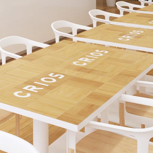 食堂 テーブルサインタイル