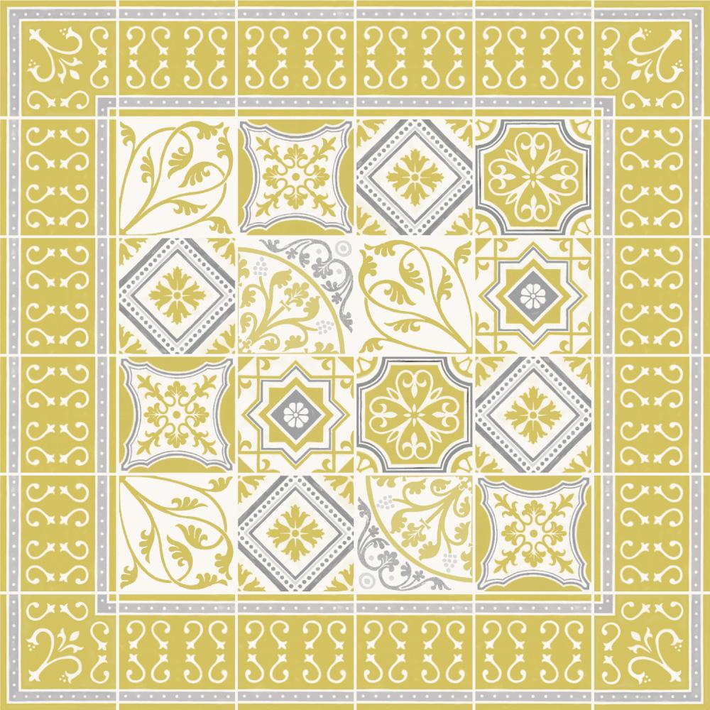 アンティークタイルの柄や色合いの特徴を再現、昔ながらの10cm角タイルのほか、20cm角、4.5cmのモザイクタイルとしてご利用いただけます、伝統的な西洋の柄と現代らしい配色が、古くも新しい空間を演出します。