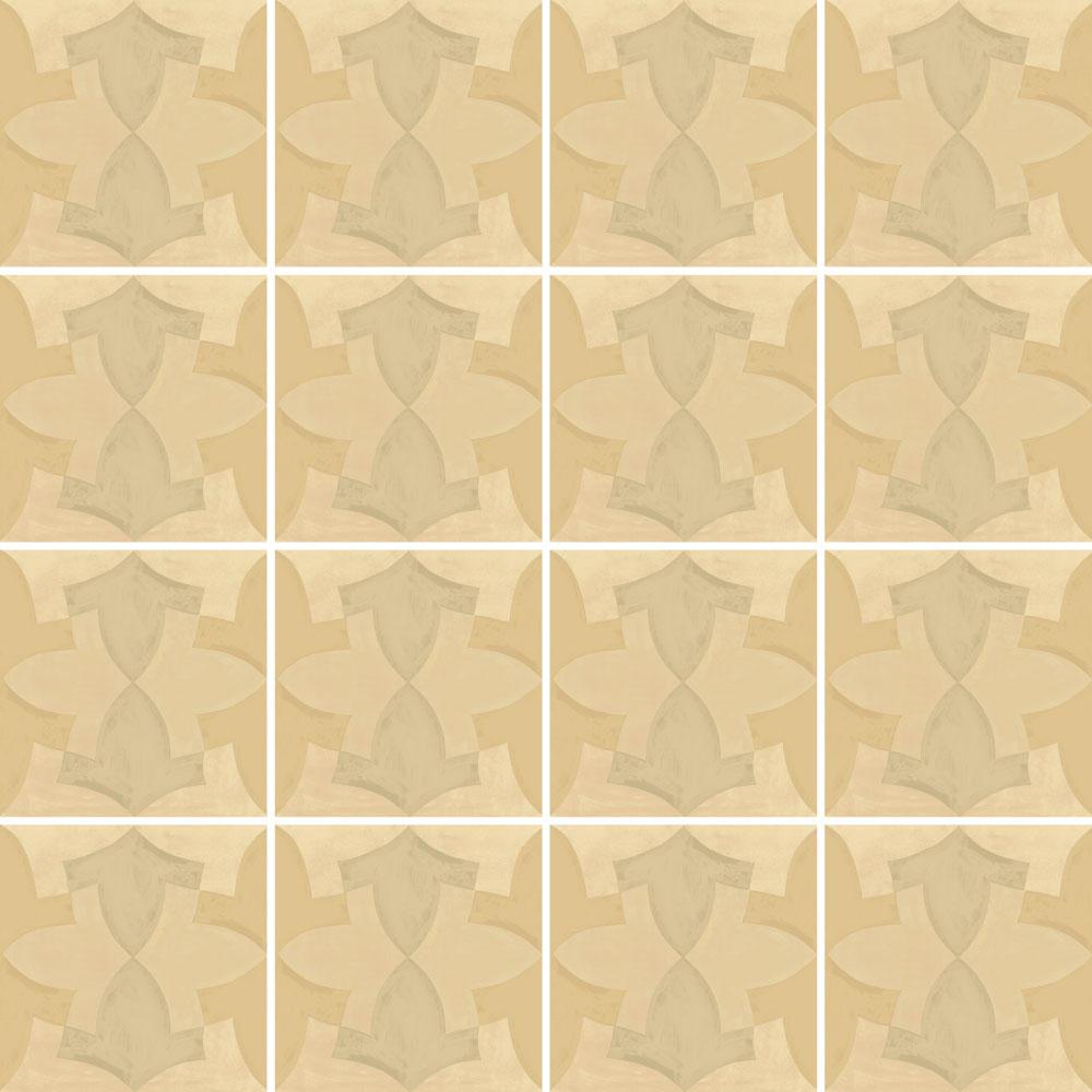 モロッコ特有の幾何学な柄のタイルです。 カラーはライトベージュを基調にした使用しやすい配色です。 空間のアクセントとしてご使用いただけます。