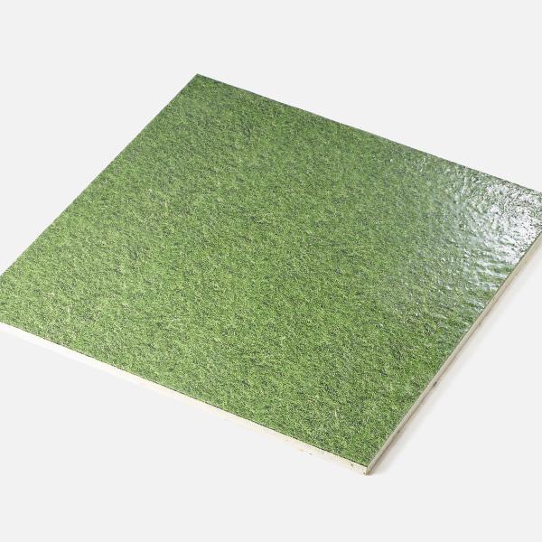 芝生の写真をプリントしたタイルの施工例です。