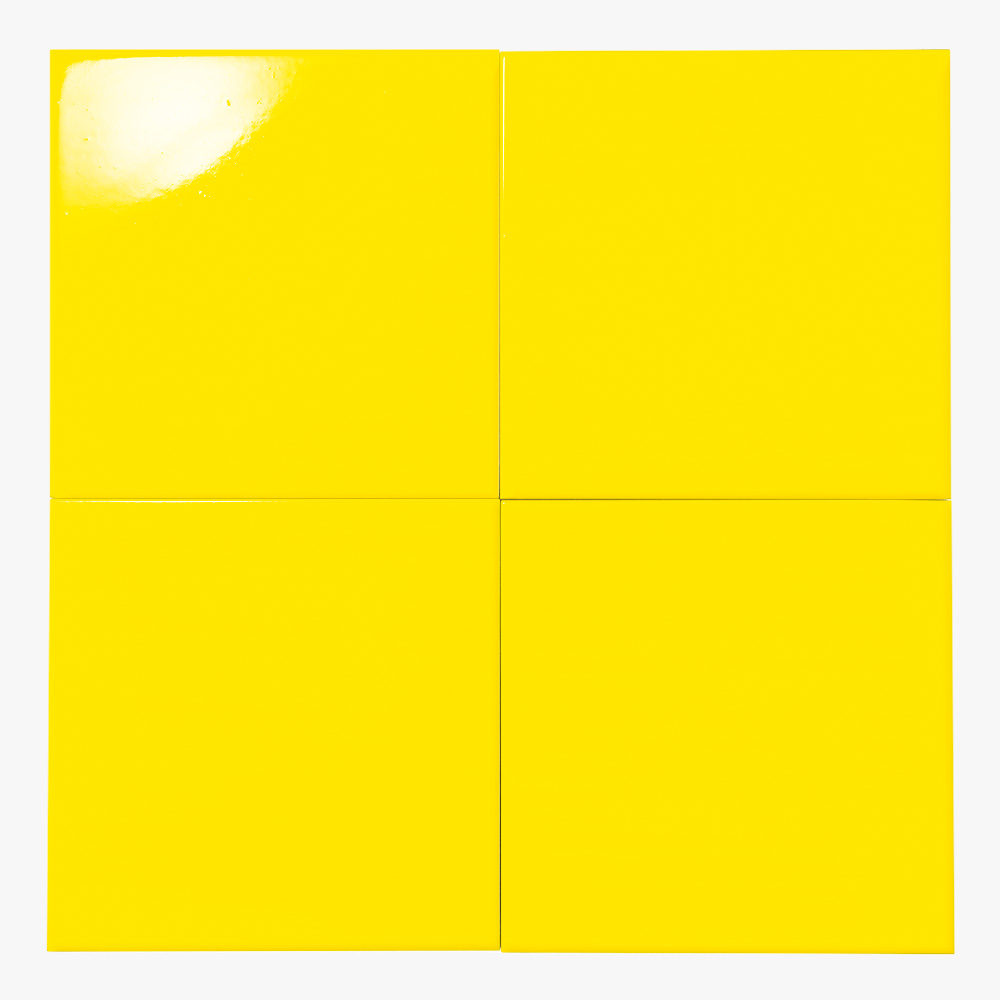 黄色のプリントタイルです。