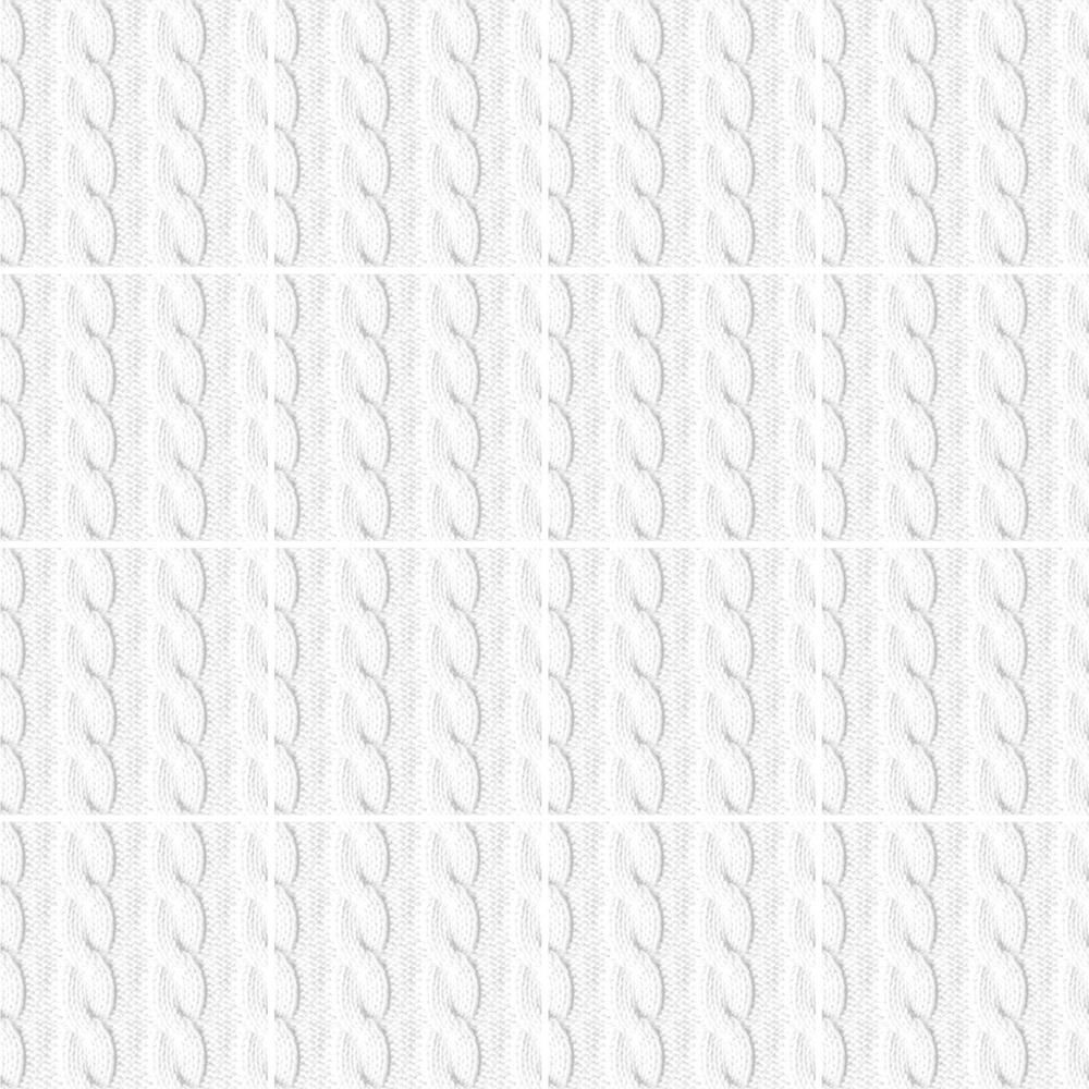 白いニット柄のタイルです。ニット柄シリーズ TEX-1001-1 〜 TEX-1001-3 は組み合わせる事が柄を繋げて使用する事が可能です。テキスタイルの柄のデザインを施したタイルシリーズ。