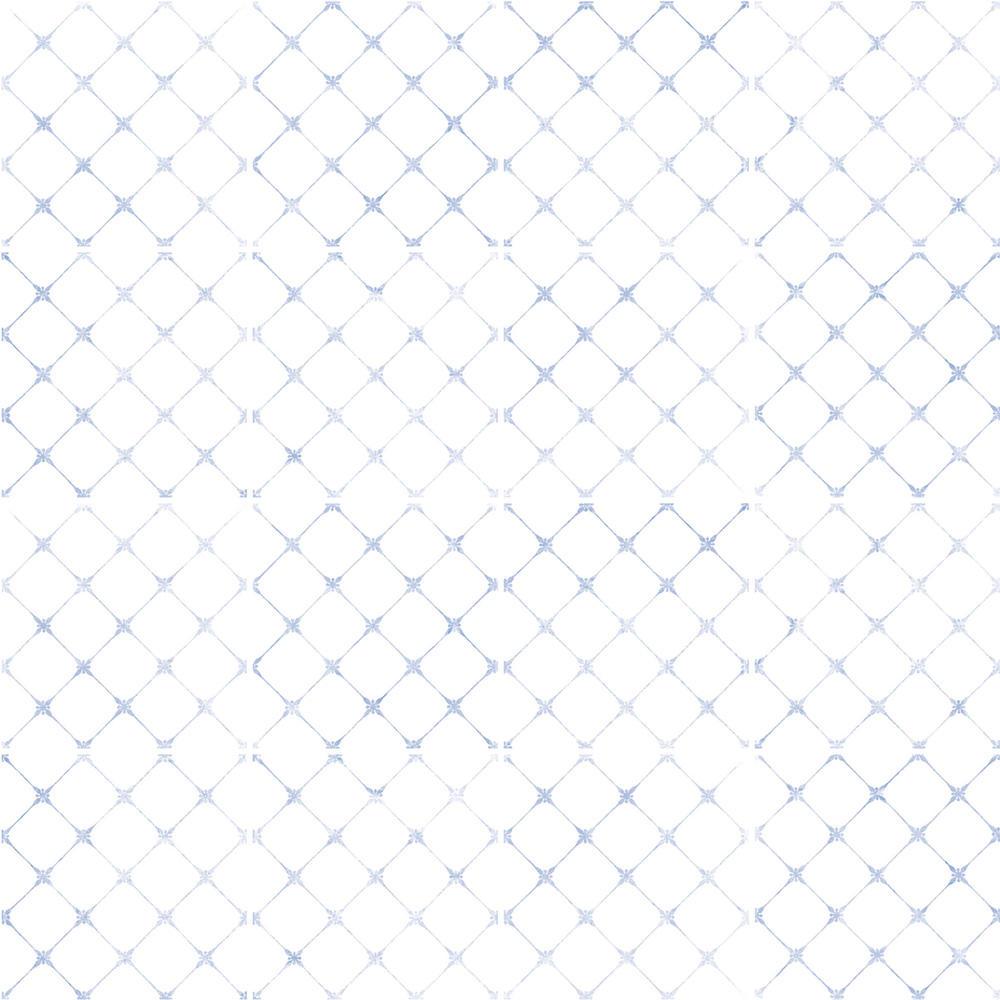 白地にかすれた青の装飾を施した、清潔感のあるタイルです。 トイレ、キッチン、バスなどの水まわりでご使用いただきやすい、清潔感のある控えめなデザインのタイルです。