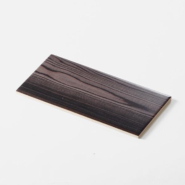 木目調プリントモザイクタイル。<br /> カラー:ブラウン<br /> サイズ:100mm × 200mm