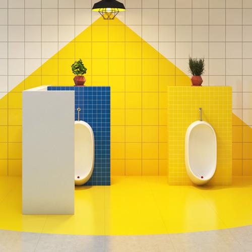トイレ壁面・床