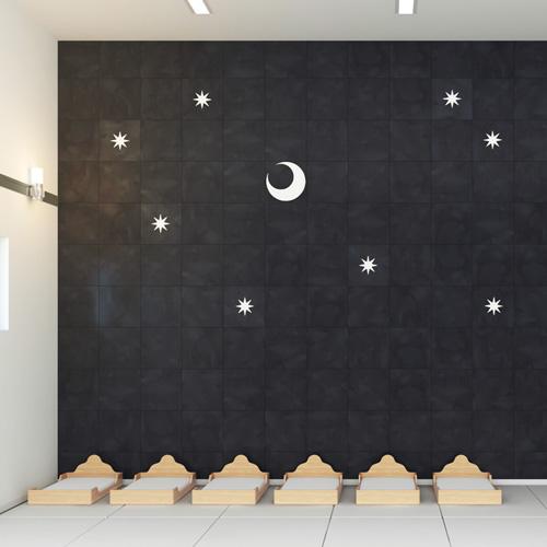 寝室スペース 壁面タイル