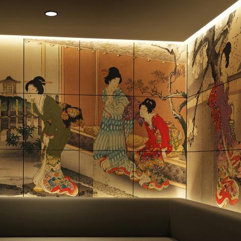 待合スペース 壁アートタイル:
