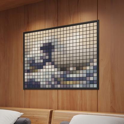 客室 壁モザイクタイル: