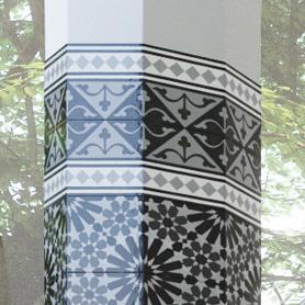 チャペル 柱 壁面タイル