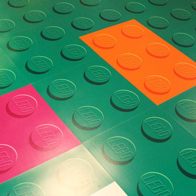 レゴブロック柄 塩ビタイル
