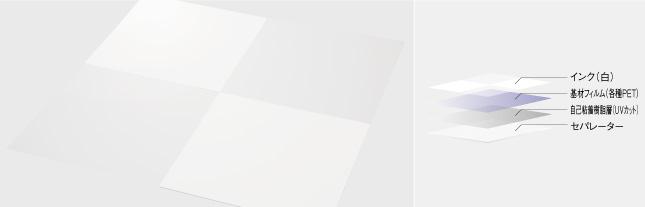 ガラスフィルム【目隠し】 ホワイト(白)